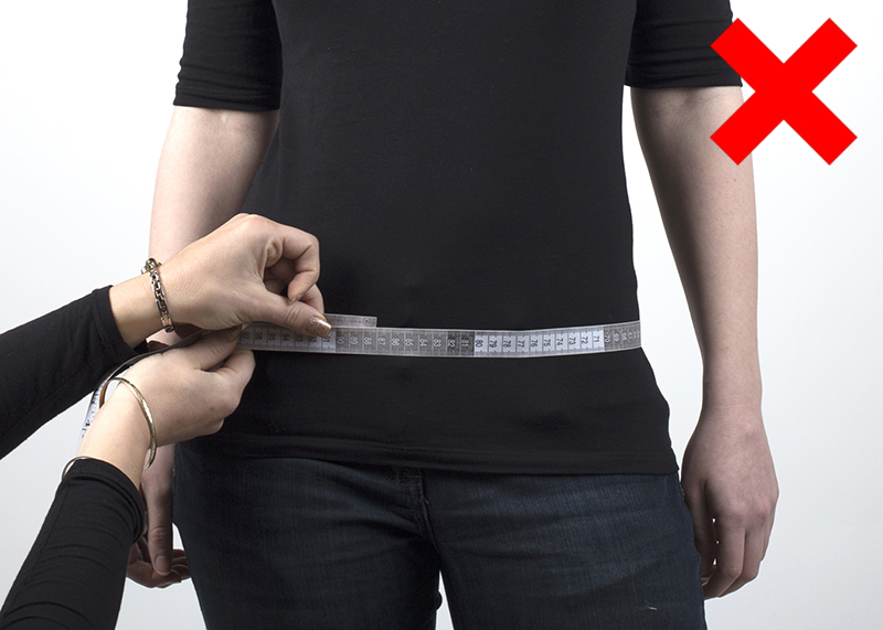 incorrect way to measure your hips