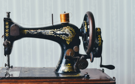 history of sewing machine blog header