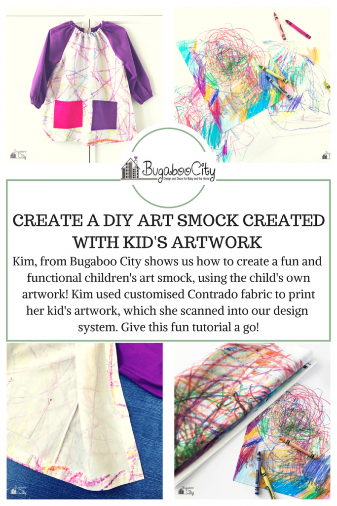 bugaboo city diy art smock created with kid's artwork