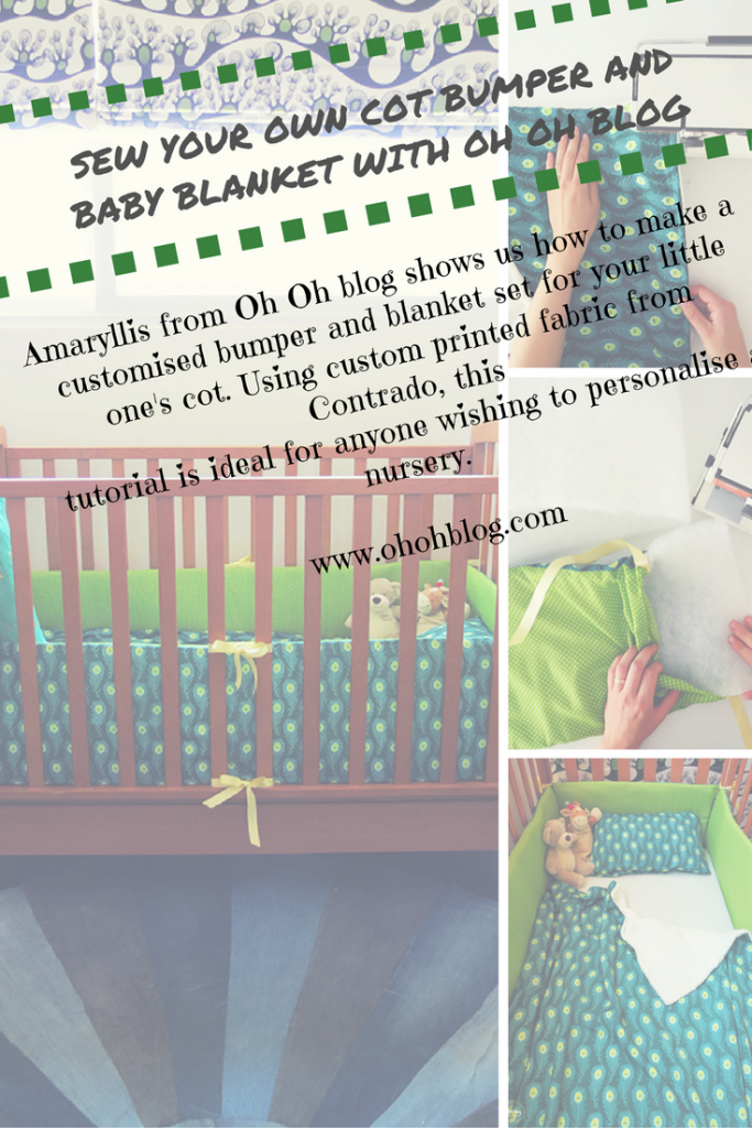 oh oh blog - crib bumper and blanket tutorial