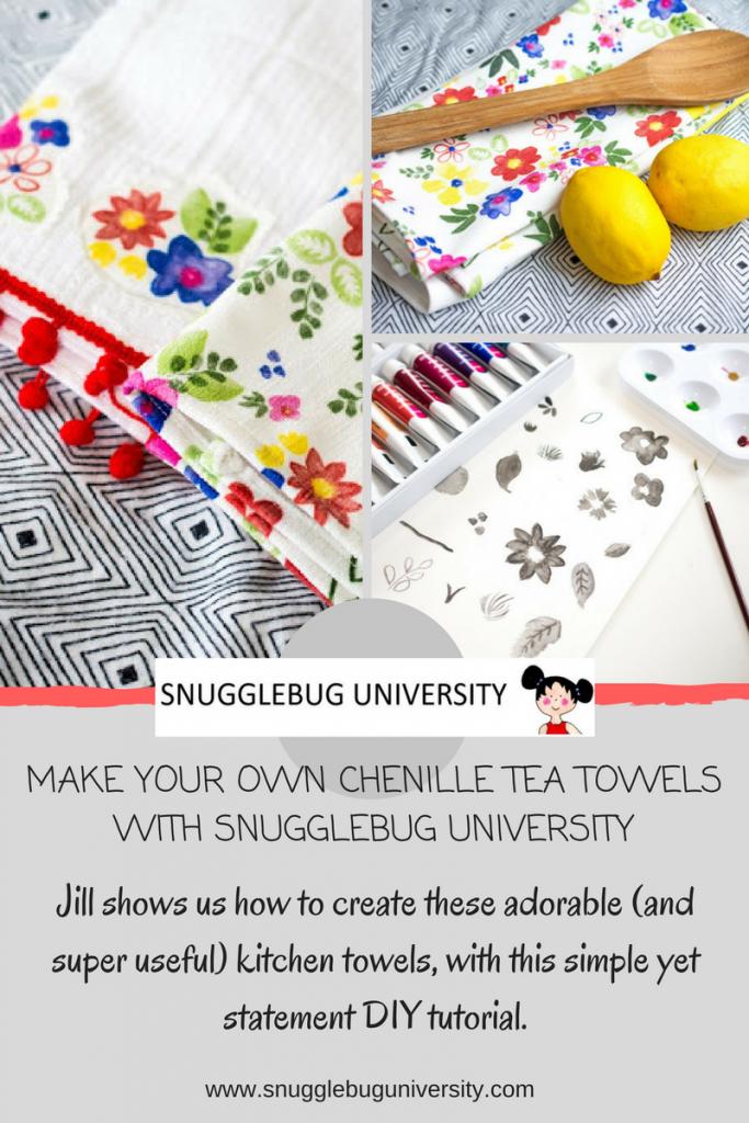 snugglebug university diy tea towels