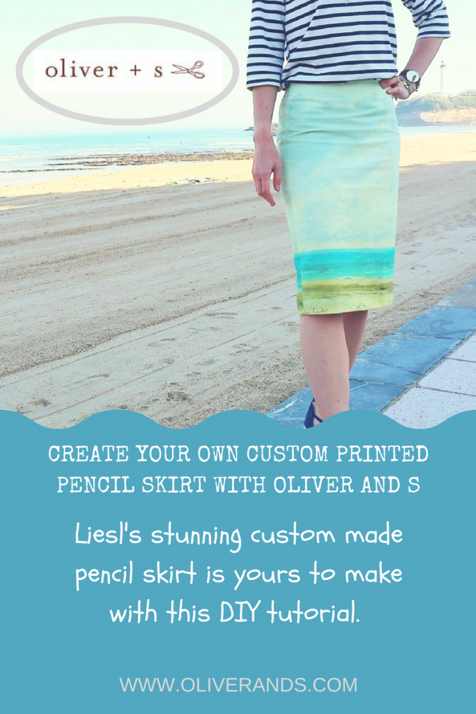 MAKE YOUR OWN CUSTOM PRINTED PENCIL SKIRT WITH OLIVER AND S tutorial