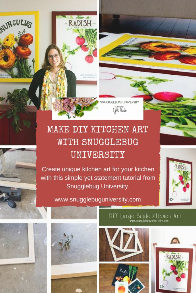 snugglebug university diy kitchen art tutorial