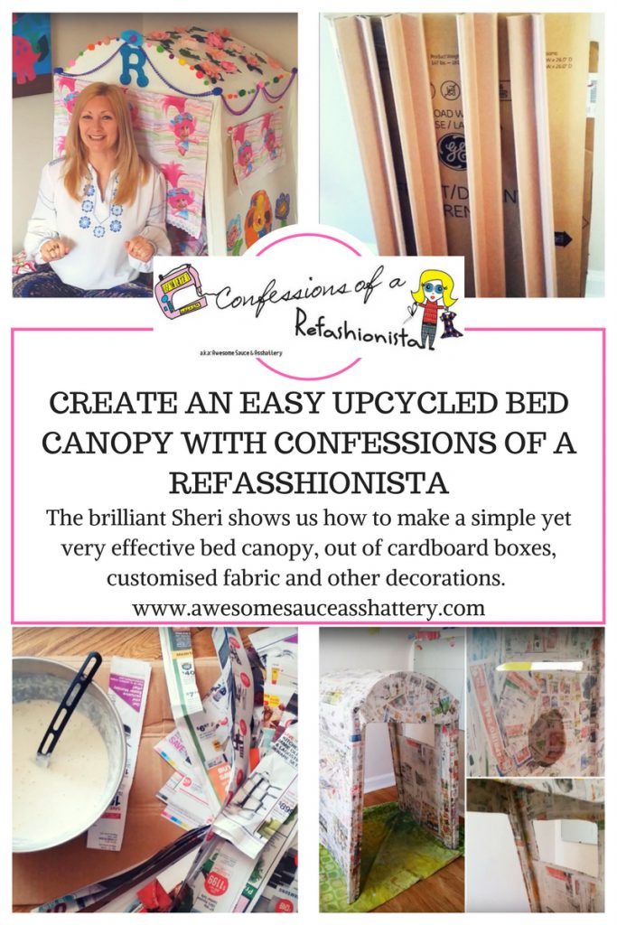 confessions of a refashionista bed canopy tutorial