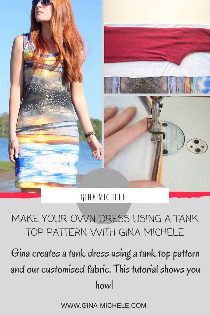 gina michele sew a dress from a tank top pattern