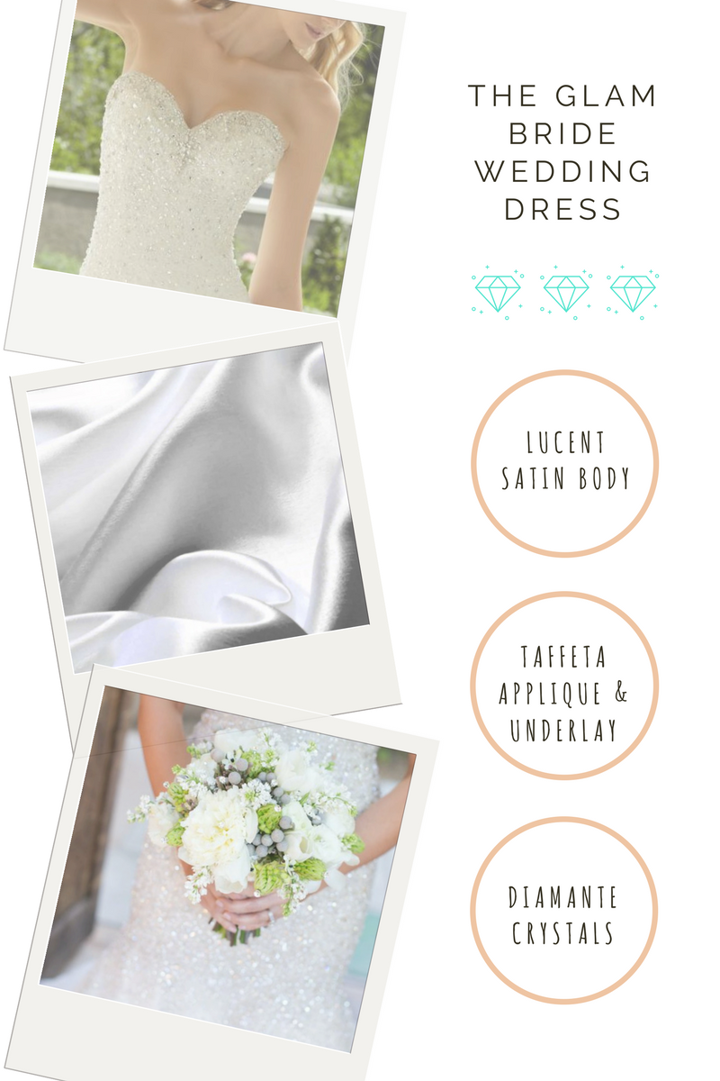wedding dress material guide for glam