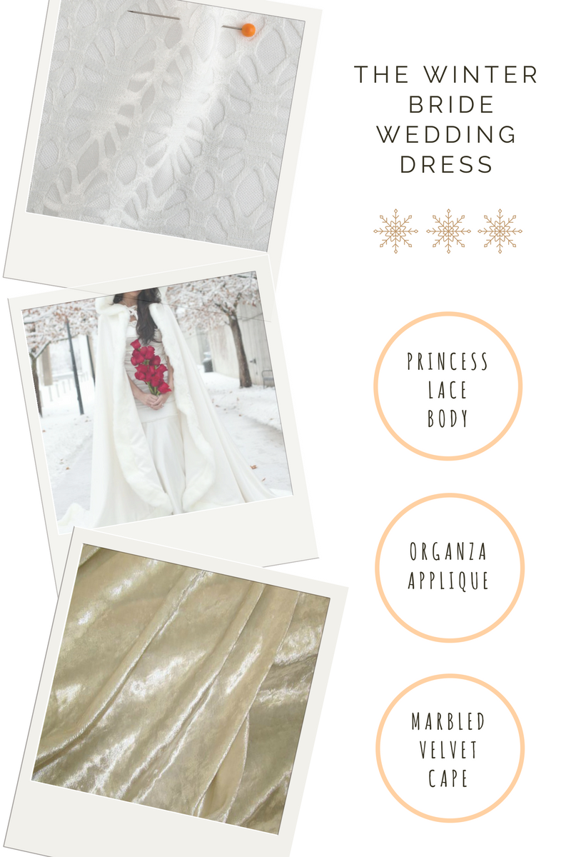 winter guide includes bridal lace fabric