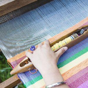 weaving denim