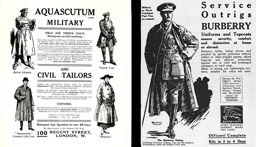 mens military trench coat pattern