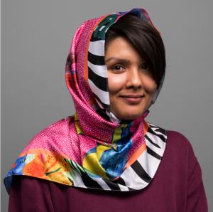 tribal print customised headscarf