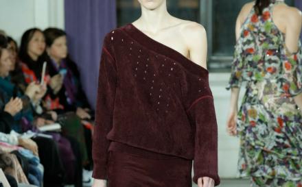 What is Chenille blog post hero image catwalk model