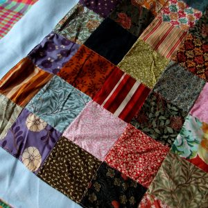 fabric remnants into patchwork