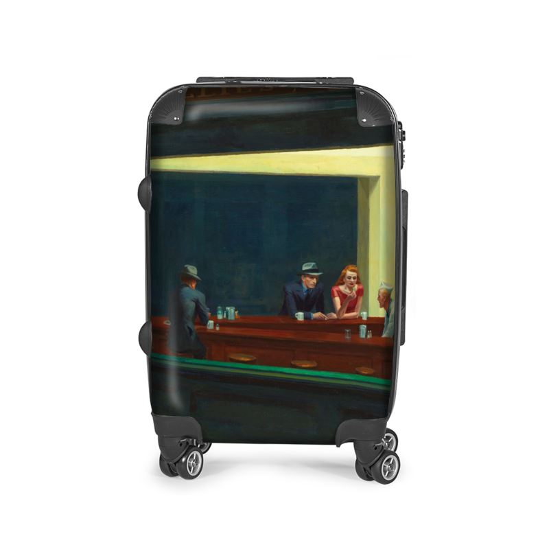 Nighthawks edward hopper suitcase