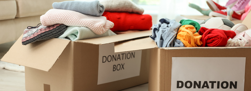 fast fashion donation boxes
