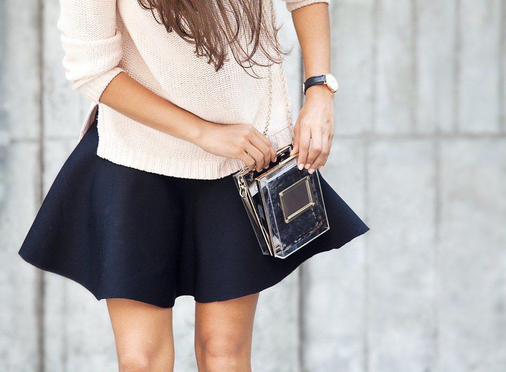 scuba fabric skirt