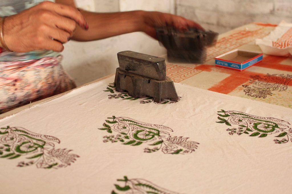 block stamp printing