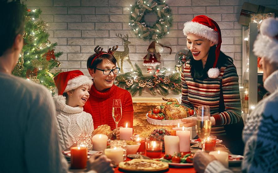 family at Christmas UK