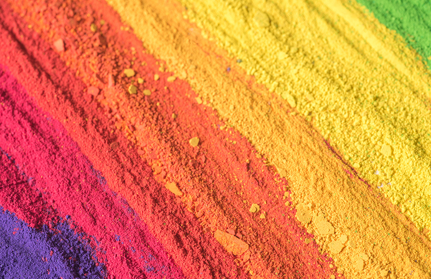 ink pigments in different colours
