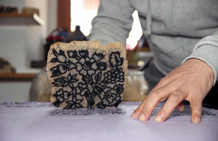 stamp printing on fabric